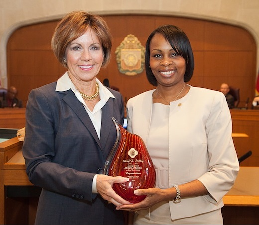 City Manager (Left) - Sheryl Sculley & City Mayor (Right) - Ivy Taylor